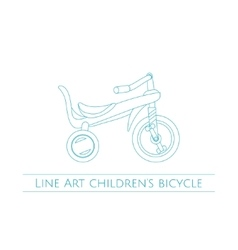 Line Art Childrens Bicycle Two vector image