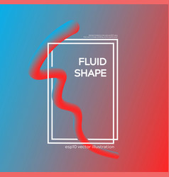 liquid dynamic fluid line shape vector image
