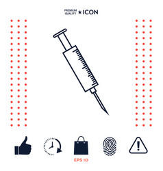 medical syringe icon vector image