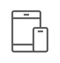 mobile devices line icon vector image