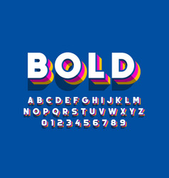 Modern bold font design alphabet letters and vector