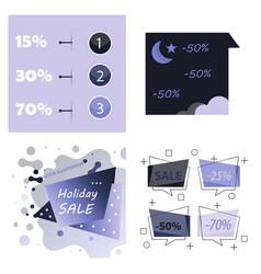 Modern promotion square web banner for social vector