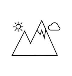 Mountain icon isolated sign vector