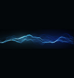 Music abstract background blue equalizer vector