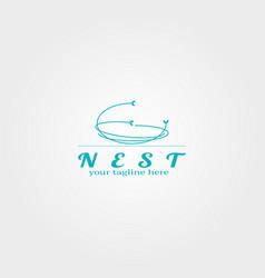 Nest logo template logo for business corporate vector