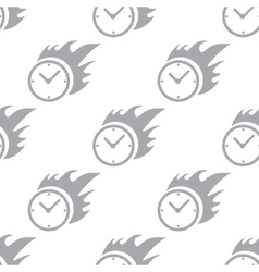 New Hot clock seamless pattern vector