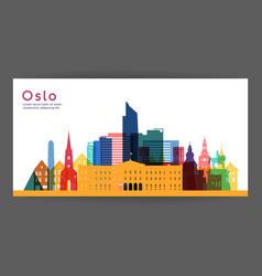 Oslo colorful architecture vector