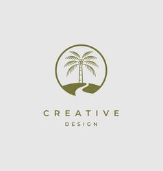 palm tree logo design template vector image