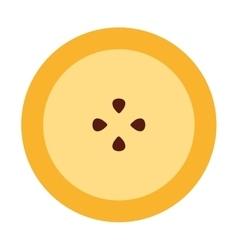 Passionfruit fresh fruit icon vector