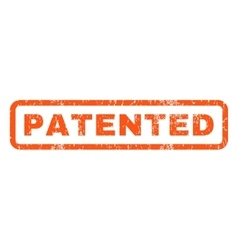 Patented Rubber Stamp vector