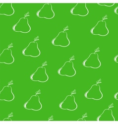 pears on a dark green background vector image