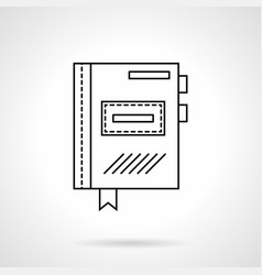 Planner flat line icon vector