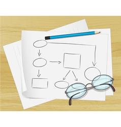 Planning Flow Chart paper vector
