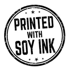 printed with soy ink sign or stamp vector image