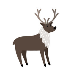 Reindeer cartoon animal icon vector