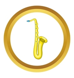 Saxophone icon vector