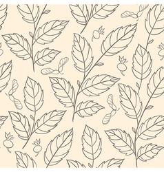 Seamless pattern with elm branches vector