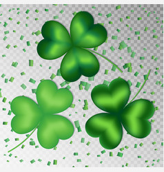 Shamrocks on a transparent background vector