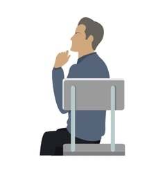 Side View of Businessman Sitting on Chair vector image