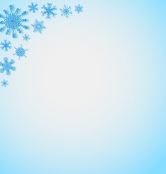 Snowflakes in the corners vector image