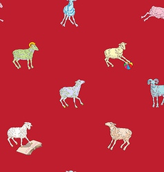 sparse pattern with sheeps vector image