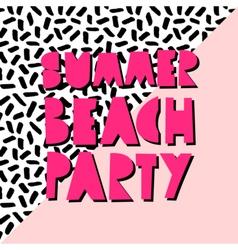 Summer Beach Party Design vector