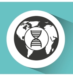 symbol DNA science molecule icon vector image