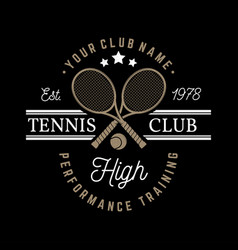 tennis club vector image