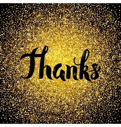 Thanks Gold Design vector image