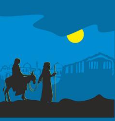 the nativity of jesus christ vector image