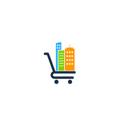 town shopping logo icon design vector image