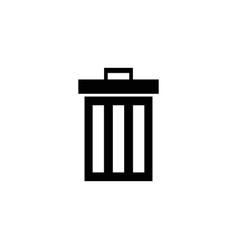 trash can bin icon vector image