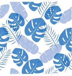 tropical leafs seamless pattern for textile design vector image
