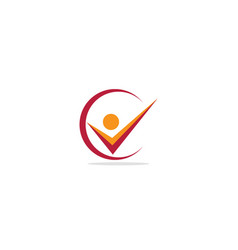 v initial winner logo vector image