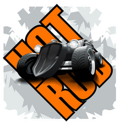Vintage hot rod logo for printing on t-shirts vector