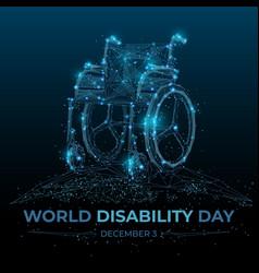 wheelchair on dark background vector image