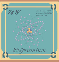 Wolframium colorful icon vector