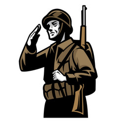 World war soldier vector