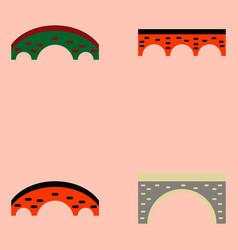 Bridges collection brick bridges set vector