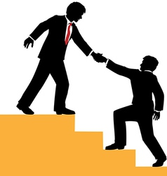 Business people help climb success vector image vector image