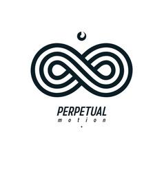 endless infinity loop symbol conceptual logo vector image vector image