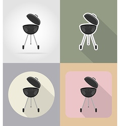 food objects flat icons 15 vector image vector image