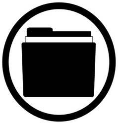 Icon file storage folder Black white style vector image