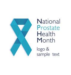 men health prostate cancer november awareness vector image