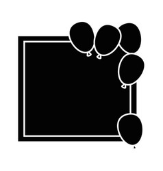 balloons air party decoration vector image vector image