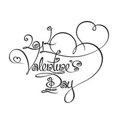 Caligraphic Text 2014 Valentines Day vector image vector image