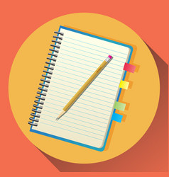 flat icon of notebook vector image vector image