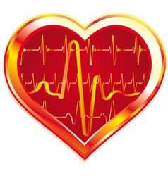 Heart pulse vector image vector image