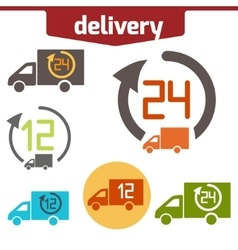 Icons set of Fast delivery vector image vector image