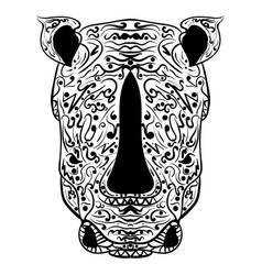 rhino head zentangle stylized vector image
